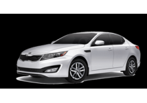 Kia Optima (or similar) A full size car rental balances comfort with affordability. Featuring room for up to 5 passengers and ample trunk space for luggage, full size vehicles are ideal for travelling families or business trips.